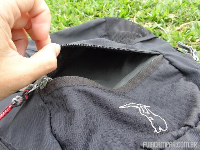 Detalhe do bolso externo