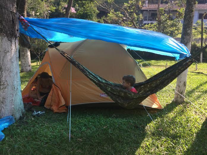 O 1o acampamento com meu filho de quatro anos