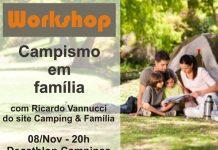 workshop camping em família