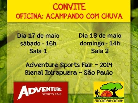 Read more about the article Oficina do FuiAcampar na Adventure Sports Fair – 2014