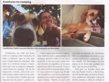 Read more about the article FuiAcampar contribui com matéria na Revista Cães e Cia