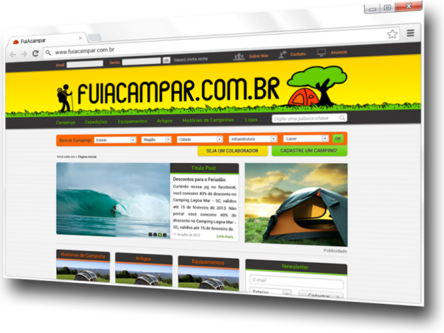Read more about the article Novo Portal FuiAcampar