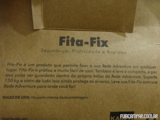 Explicações na embalagem do Fita Fix